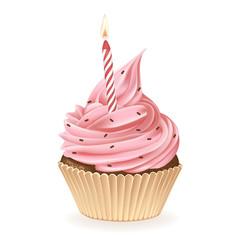 Birthday Candle Cupcake
