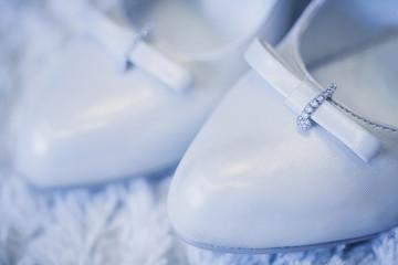 beautiful white shoes
