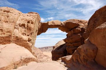 Burdah Arch in Wadi Rum desert.