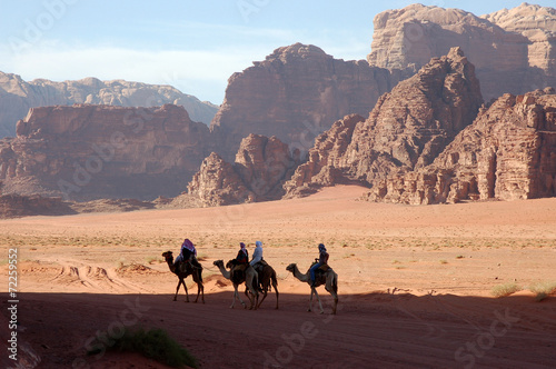 Wadi Rum desert safari, Jordan. - 72259552