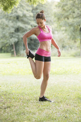 Young Woman Doing Outdoor Exercise