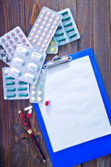 note and pills
