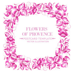 Gzhel style floral frame.