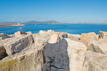 rocks in Alghero dock