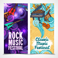 Music vertical banners