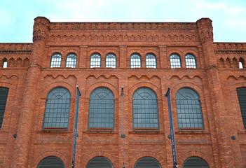 Facade of the former weaving mill I. Poznanskogo. Lodz, Poland