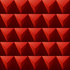 vector background regular red triangles  seamless pattern