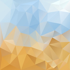 vector background triangular design in sky and desert colors
