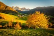 Leinwanddruck Bild - Autunno sulle Alpi