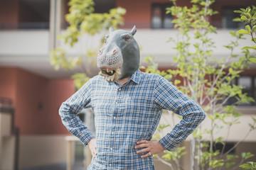 hippo mask absurd man