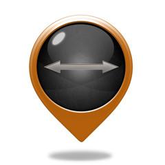 Arrow  pointer icon on white background