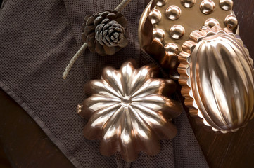 copper molds kitchenware