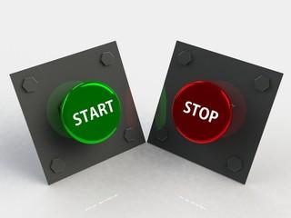 Start stop 3d button