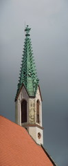 St. John's church tower with crockets (Riga, Latvia)