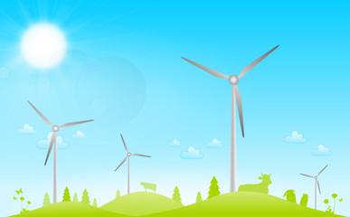 Windpark Landschaft