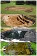 Construction d'un bassin de jardin - 72265371