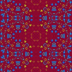 Red tileable mosaic pattern