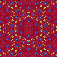 Tileable mosaic kaleidoscope pattern