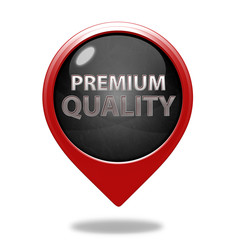 Premium quality pointer icon on white background