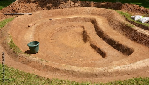 Construction d'un bassin de jardin - 72265554