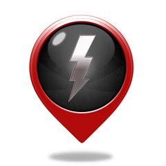 Bolt pointer icon on white background