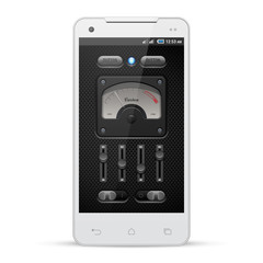 Carbon UI Application Software Controls Set. White Smartphone