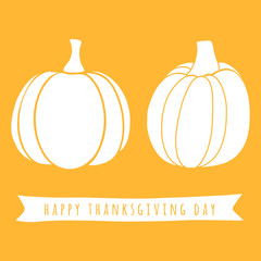 Cute pumpkin silhouettes for Thanksgiving day