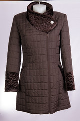 Brown woman coat