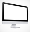 Computer display with white screen