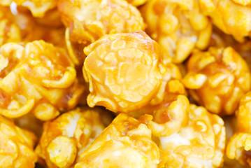 pile of caramel popcorn