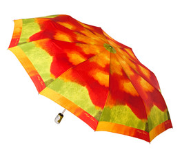 Bright umbrella isolated on white