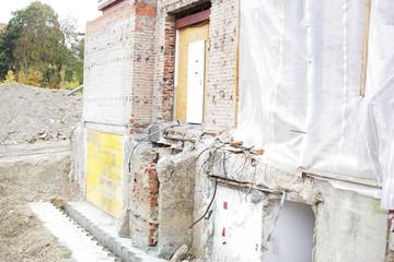 Baustelle Haus Abriss