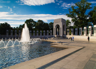 The U.S. National World War II Memorial in Washington DC,USA