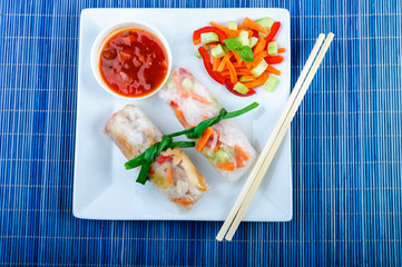 spring rolls with vegetables