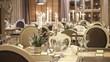 Leinwanddruck Bild - Modern restaurant interior