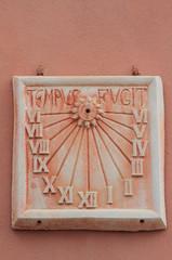 Ancient sundial. Civitavecchia, Italy