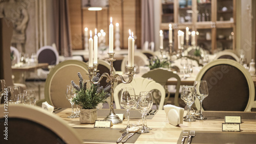 Leinwanddruck Bild Modern restaurant interior