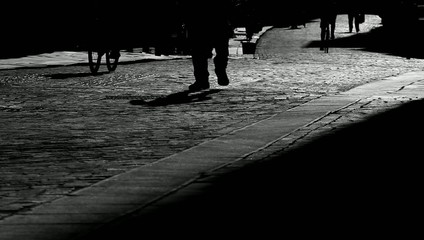 Strada controluce