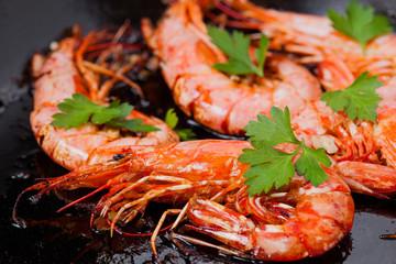 Fried king shrimps