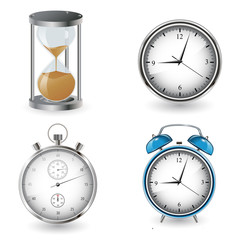 clock and watch collection vector illustration