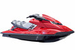 Red jet ski isolated on white - 72269161