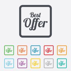 Best offer sign icon. Sale symbol.