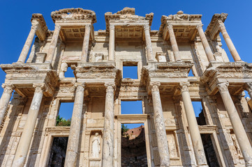 Ancient Celsius Library in Ephesus, Turkey