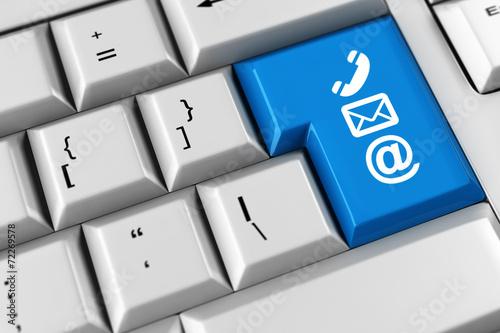 canvas print picture Symbol für Kommunikation und Kundenservice