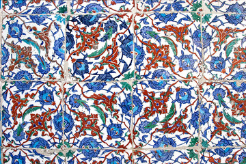 Ancient Handmade Turkish Tiles ,Istanbul, Turkey