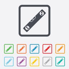 Bubble level sign icon. Spirit tool symbol.