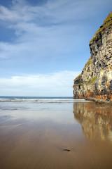 high cliffs of Ballybunion on the wild atlantic way