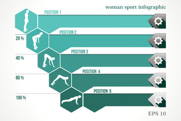 woman infographic workout fitness design