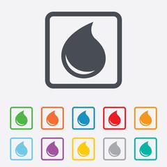 Water drop sign icon. Tear symbol.