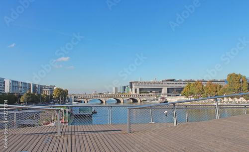 Papiers peints Pont Paris passerelle Simone de Beauvoir